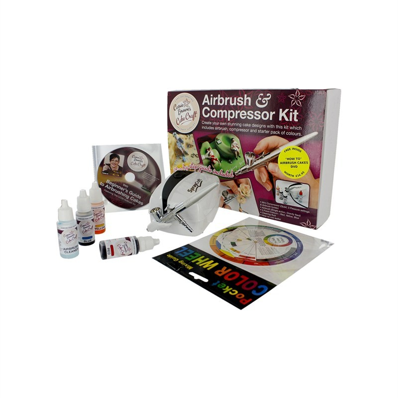Cassie Browns Cake Decorating Airbrush And Compressor Kit : Cassie browns cake crafts airbrush and compressor kit