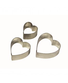 PME Heart Arum Lily Petal Stainless Steel Cutter Set 3pc