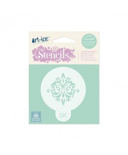 Squires Kitchen Art-ice Stencil Round Baroque