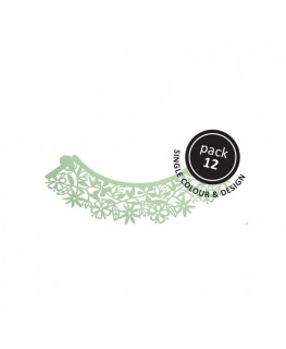 PME Floral Cupcake Wrappers Light Green 12pk