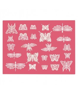 Claire Bowman Cake Lace Mat 3D Beautiful Butterflies