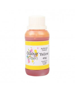 Colour Splash Edible Airbrush Colour - Yellow 45g