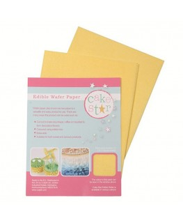 Cake Star Wafer Paper - Yellow 12pk