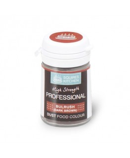 Squires Kitchen Professional Food Colour Dust Bulrush Dk Brown 4g
