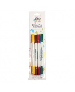 Colour Splash Edible Food Colour Pens Assorted 8pk