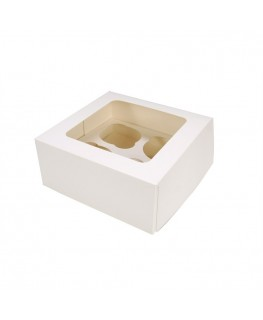 Culpitt White 4 Cupcake/Muffin Box