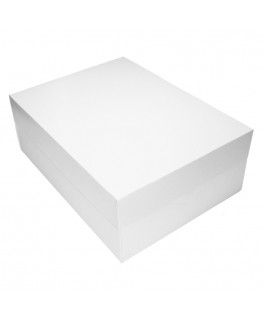 "Culpitt 16"" x 12"" White Oblong Cake Box"