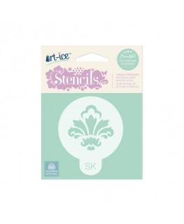 Squires Kitchen Art-ice Stencil Round Damask