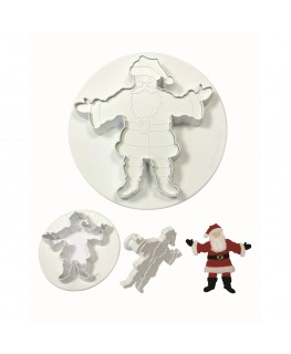 PME Embosed Father Christmas Plunger Cutterg Set 2pc (55mm, 120mm)