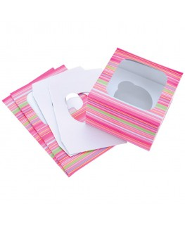 Wilton Snappy Stripes Cupcake Boxes (Holds 1) 3pk