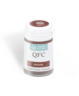Squires Kitchen Quality Food Colour (QFC) Dust Brown 4g