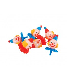 Wilton Small Derby Clowns Topper Set 6pk