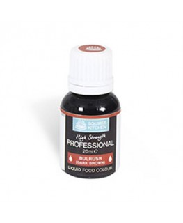 Squires Kitchen Professional Food Colour Liquid Bulrush Dk Brown 20ml