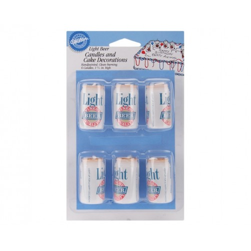 Wilton Beer Cans Candle Set 6pk
