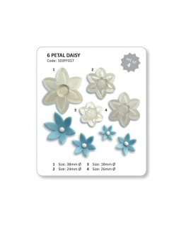 JEM 6 Petal Daisy Cutter Set 4pc