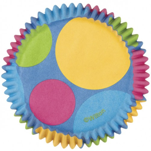 Wilton Retro Dots Standard Cupcake Cases 75pk