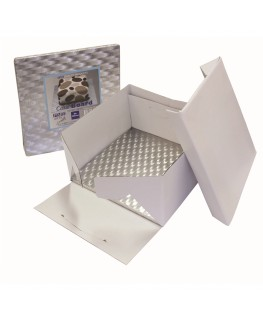 "PME 10"" Cake Box & Square Cake Drum (12mm thick)"