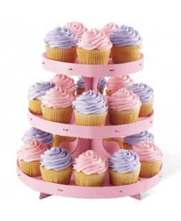 Wilton 3 Tier Pink Cupcake Stand