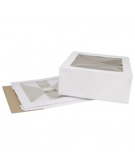 "Wilton Corrugated Cake Box (with window) 14.25"" x 14.25"" x 6"" 2pk"