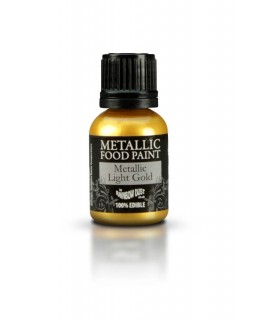 Rainbow Dust Metallic Food Paint Light Gold 20ml
