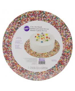 "Wilton Sprinkles 12"" Round Cake Boards 3pk"