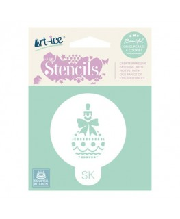 Squires Kitchen Art-ice Stencil Round Christmas Bauble