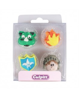 Culpitt Dragon and Knight Sugar Pipings 12pk