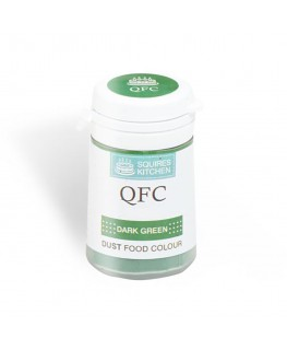 Squires Kitchen Quality Food Colour (QFC) Dust Dark Green 4g
