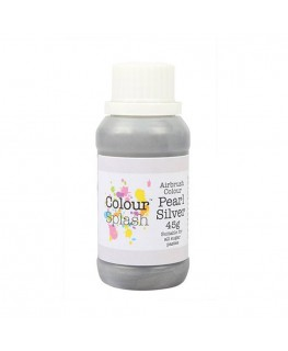 Colour Splash Edible Airbrush Colour - Pearl Silver 45g