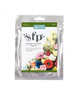 Squires Kitchen Sugar Florist Paste (SFP) Holly/Ivy Dark Green 100g