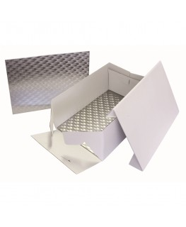 """PME Oblong Cake Box & Cake Board 381 x 278mm (15 x 11"""") (3mm thick)"""