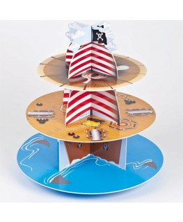Culpitt 3 Tier Pirate Cupcake Stand