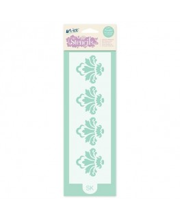 Squires Kitchen Art-ice Stencil Border Damask