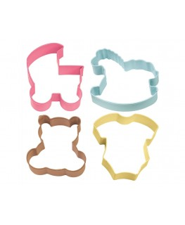 Wilton Baby Theme Cookie Cutter Set 4pc