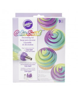Wilton ColorSwirl Tri-Color Coupler Decorating Set 9pc