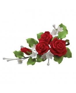Culpitt Gumpaste Red Rose Spray - 127mm