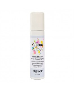 Colour Splash Edible Food Colour Spray Metallic Silver 100ml