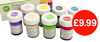 Wilton Icing Colour Gel Paste Set of 8 Colours Now Just £9.99